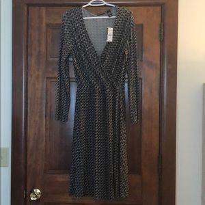 New York & Company long sleeve wrap dress